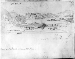 "ValleFra skissealbum av John W. Edy, ""Drawings Norway 1800"""