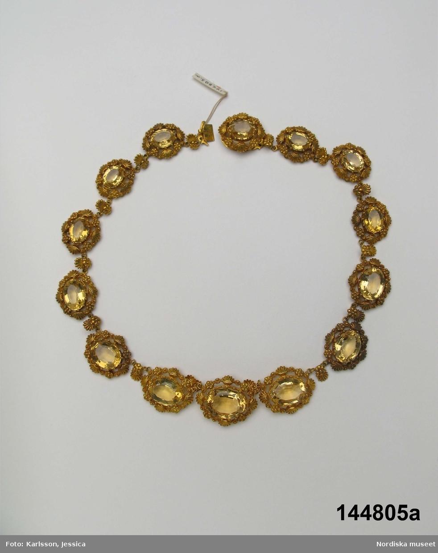 Anv. av Fredrika af Wingård som fick halsbandet av Karl XIV Johan och drottning Desideria.