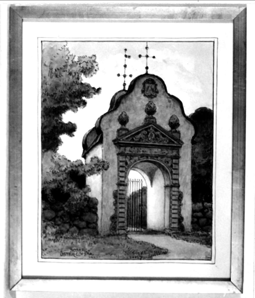 Stiglucka vid Österlövsta kyrka, Österlövsta socken, Uppland.