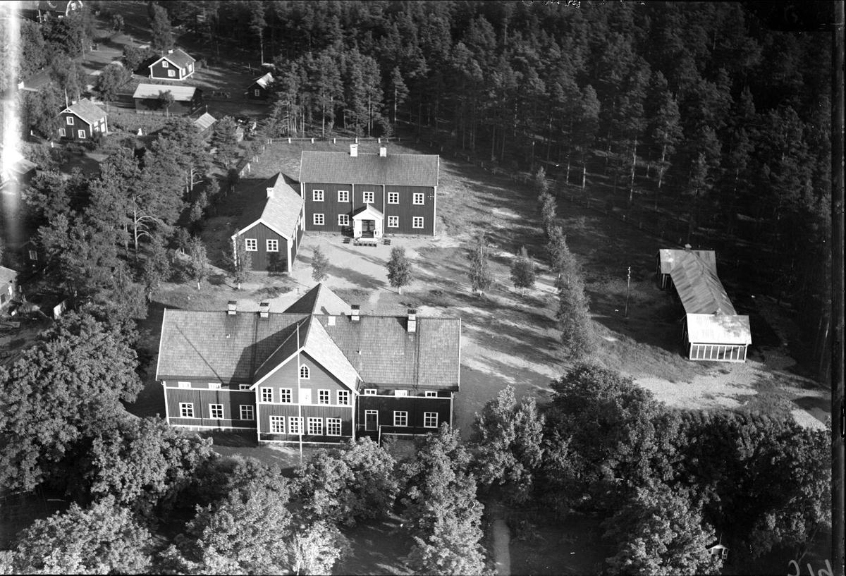 Flygfoto över Älvkarleby eller Älvkarleö, Älvkarleby socken, Uppland 1936