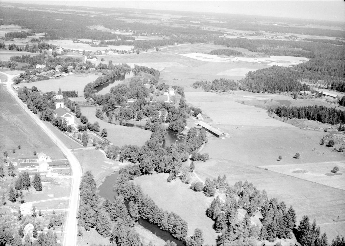 Flygfoto över Västland, Västlands socken, Uppland 1947