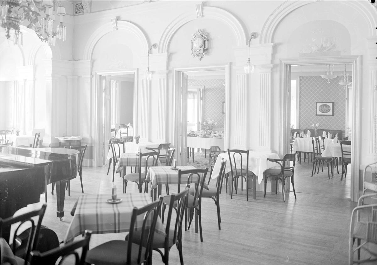 Restaurang Flustret, Fjärdingen, Uppsala, interiör april 1939