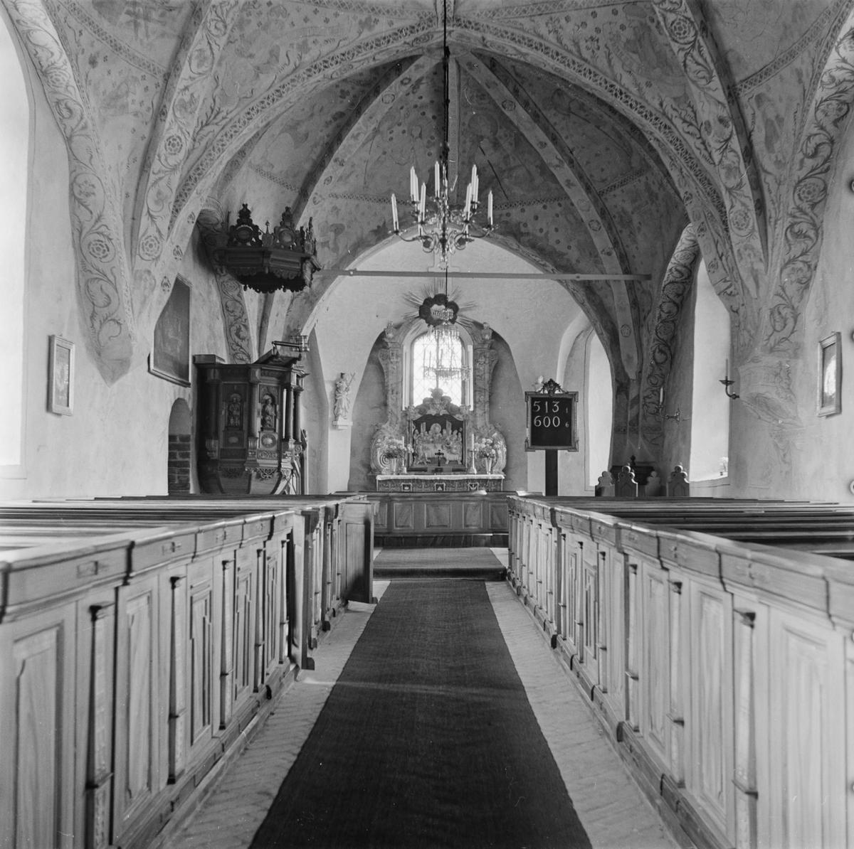 Interiör i Gryta kyrka, Gryta socken, Uppland