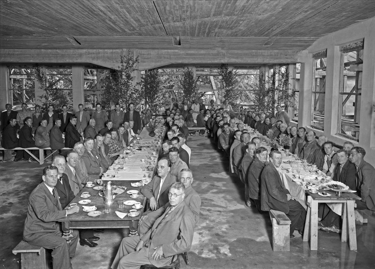 Taklagsfest i Uppsala 1939