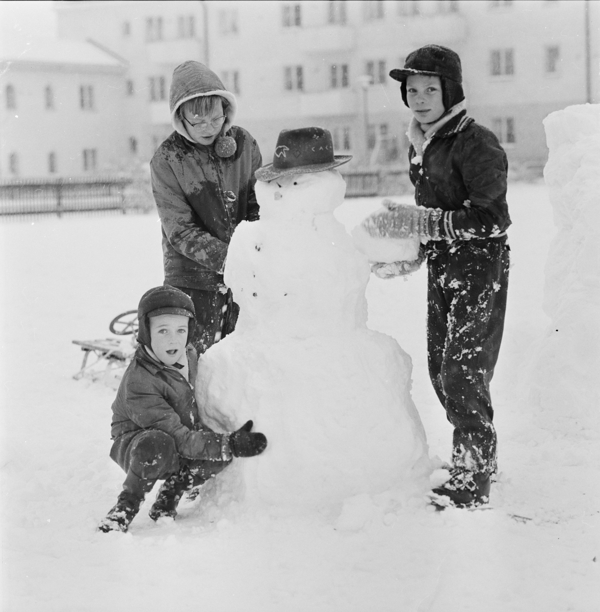 """""""Första snön"""", Uppsala november 1956"""