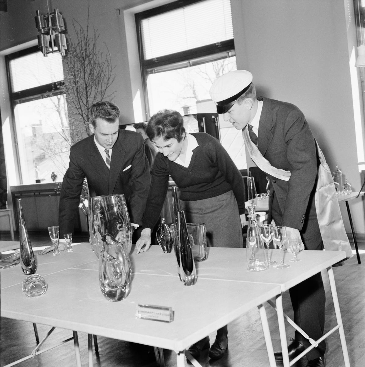 Smålands nation - glasexpo, Uppsala april 1961