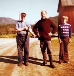 3 generasjoner på Øvre Ågedal i Grindheim, senere Audnedal.