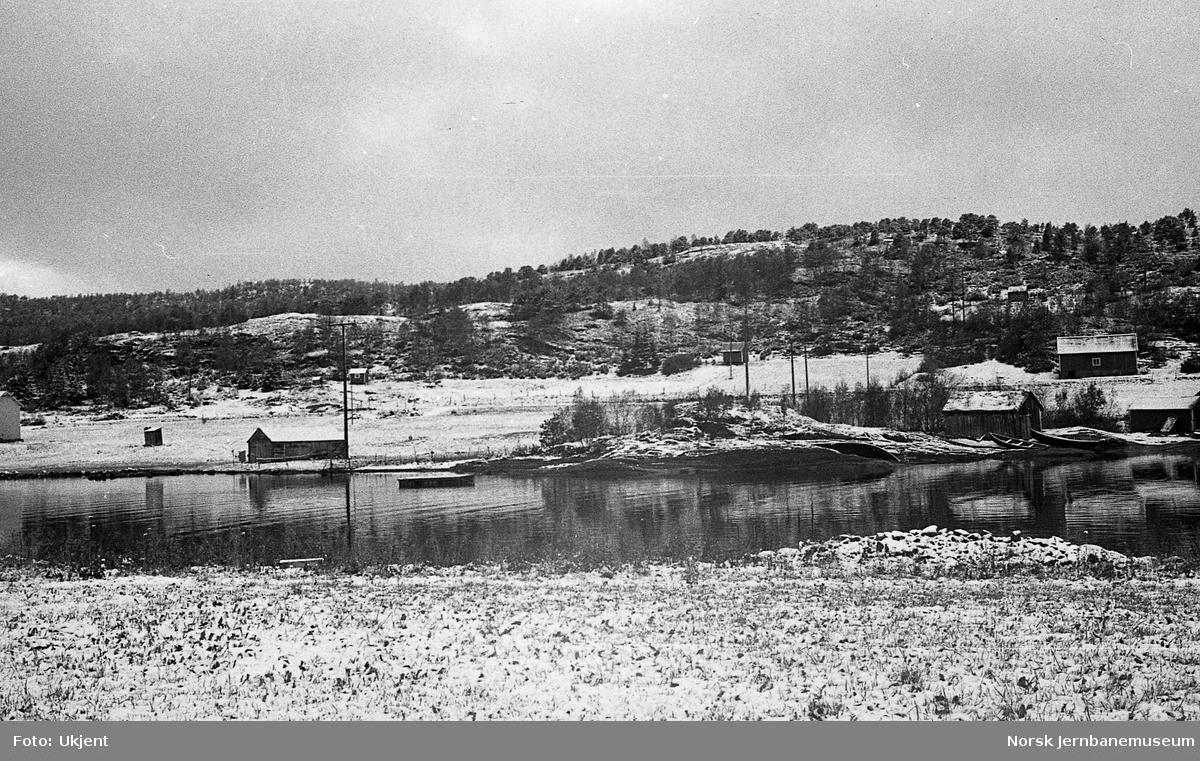 Nordlandsbaneanlegget : brustedet for Straumsnes bru