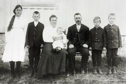 Familiebilde Håland. Grindheim Audnedal.
