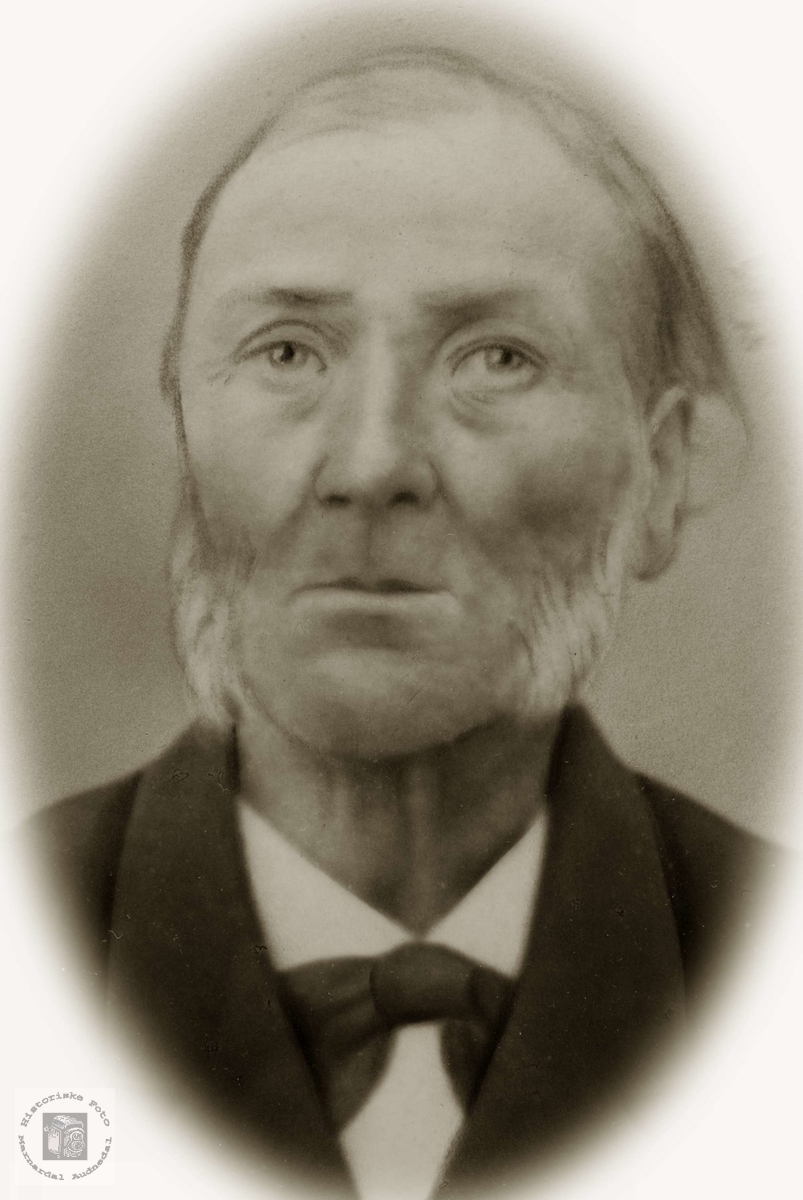Portrett av Bjøruf Hårtveit. Grindheim Audnedal.