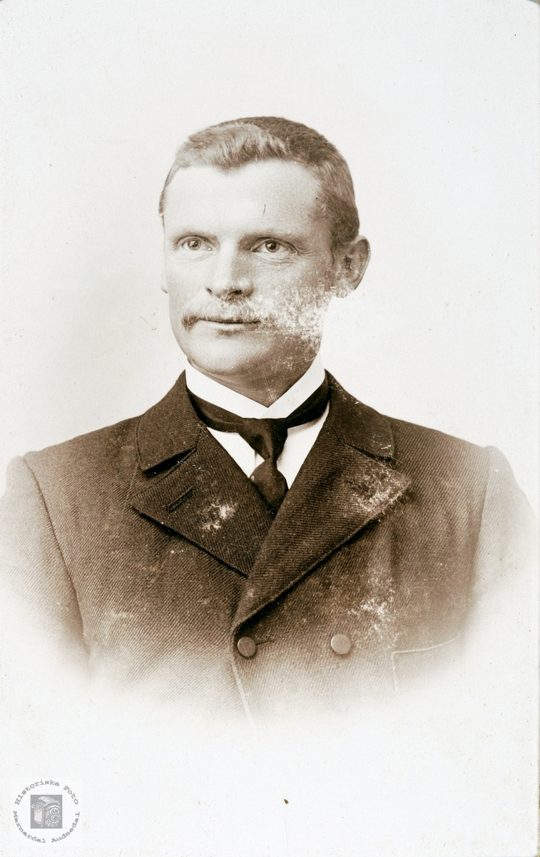 Portrett av Torkel Flåt. Bjelland Audnedal.