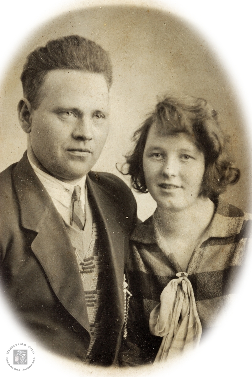 Forlova par, Jakob Øydna og Allis. Grindheim.