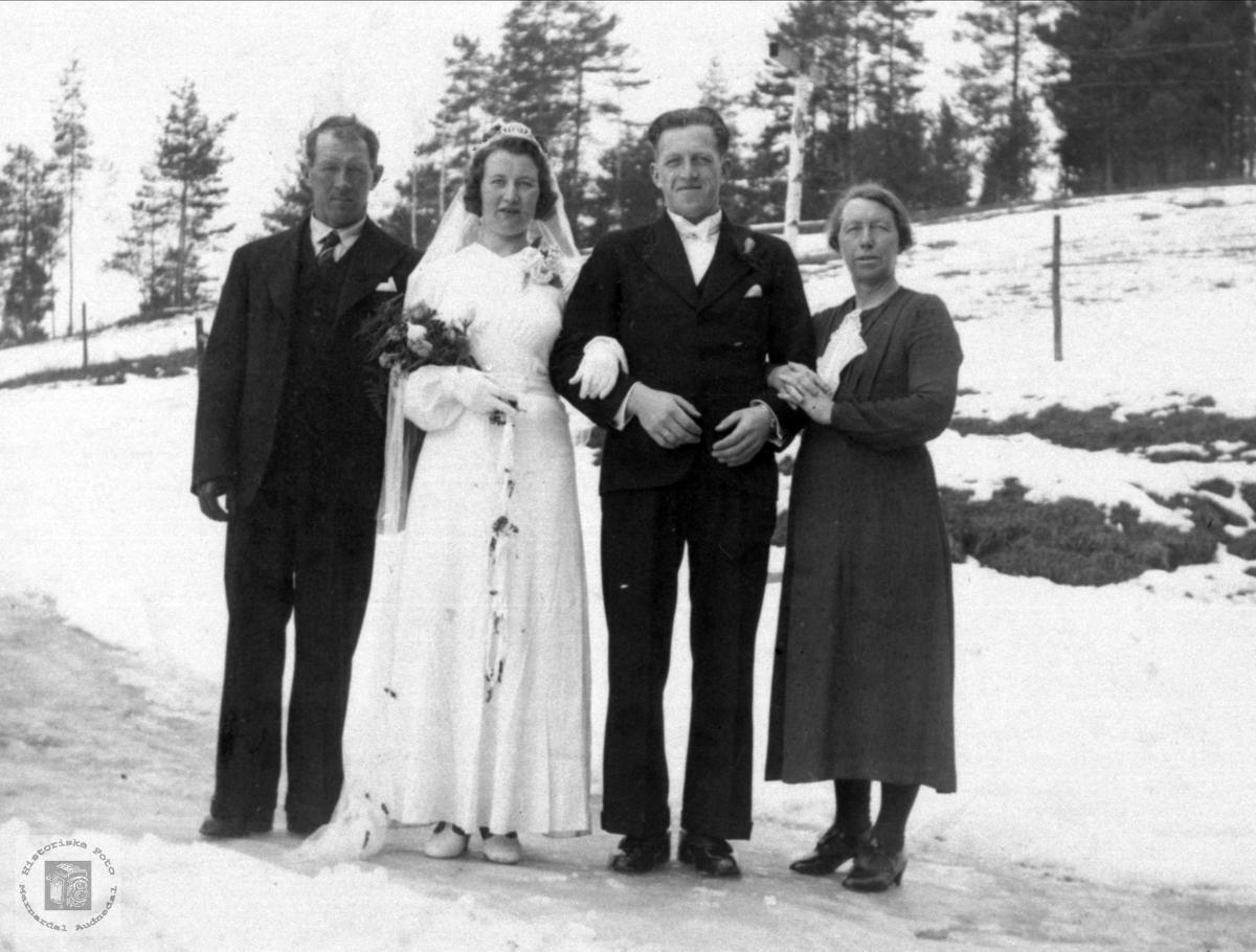 Bryllupsbilde Sørine og Jørgen Fiskodde