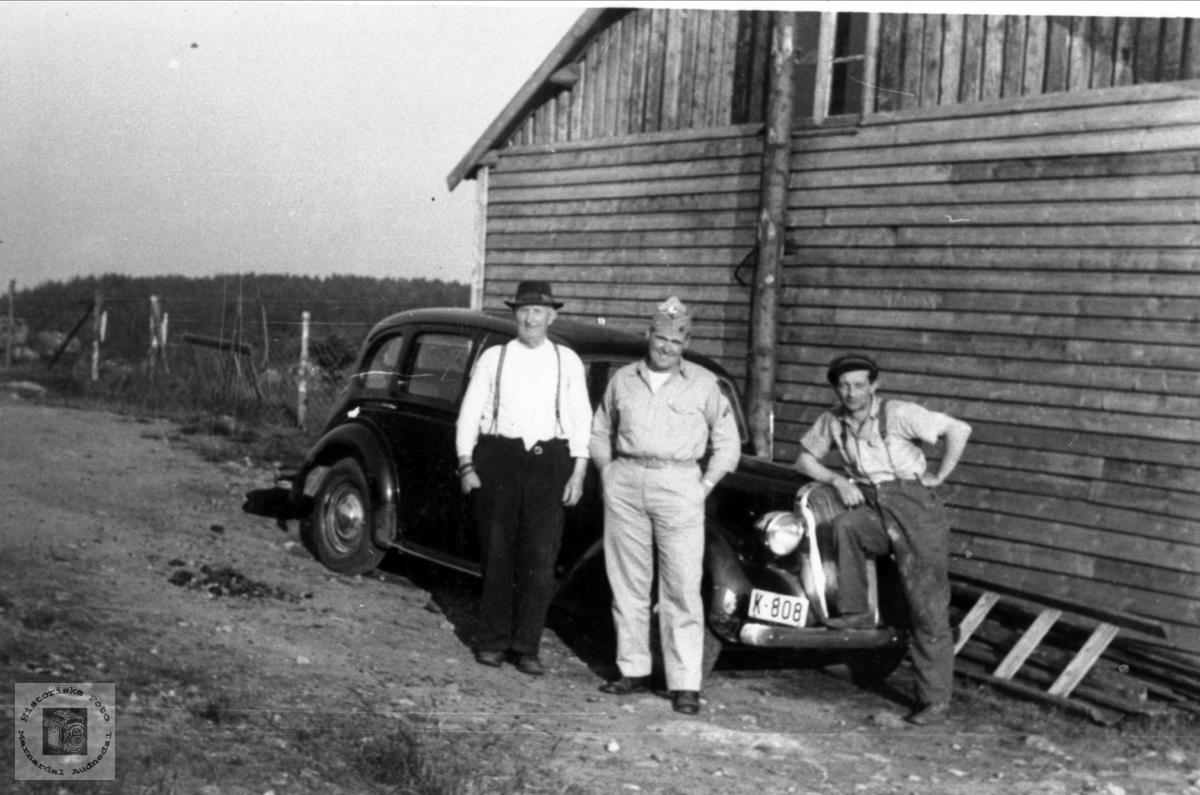 Amerikabesøk i Bjørkelid, Laudal.