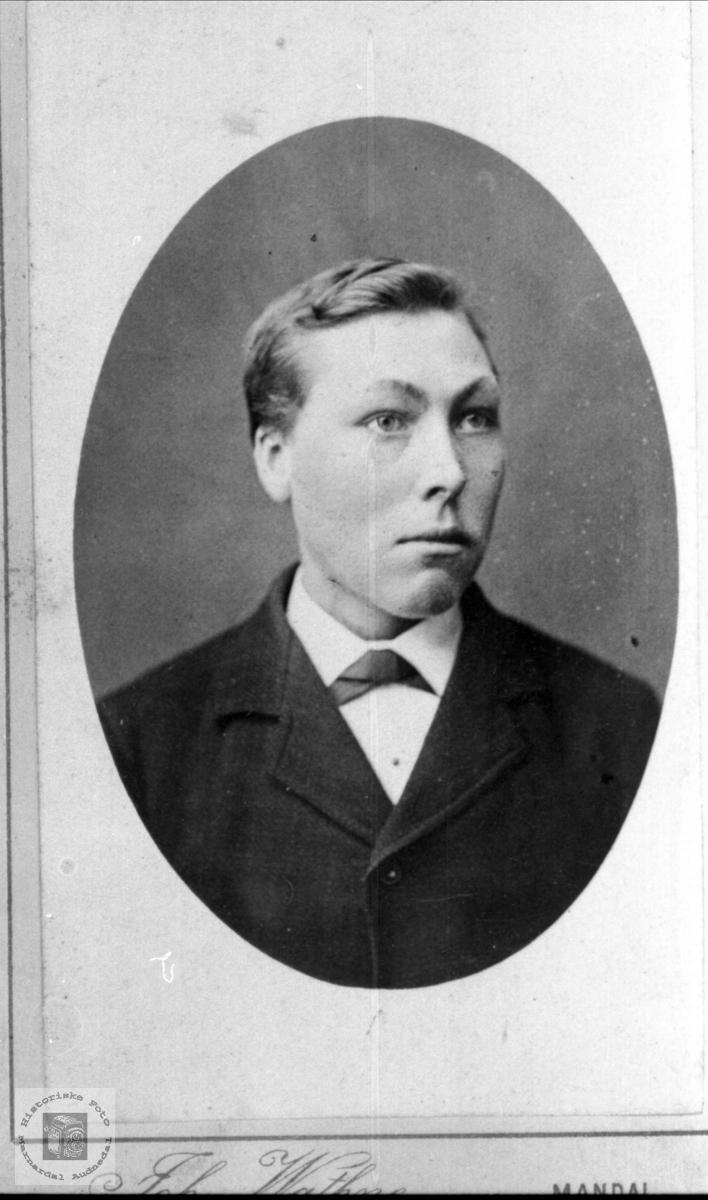 Portrett av Peder Usland, Øyslebø.