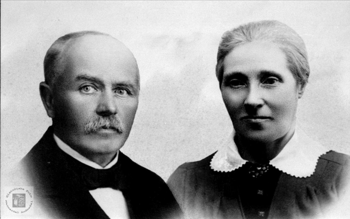 Ekteparet  Aanen og Anne Tomine Fuglestveit, Øyslebø.