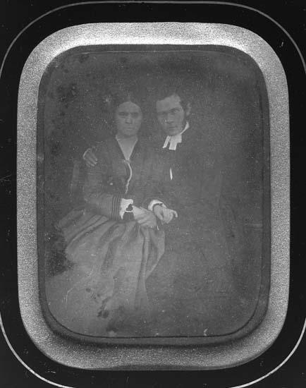 Kyrkoherdeparet  Johan Aron Andersson Almén (1825 -1895) och Hilma Matilda Schultz (1835 - 1862)