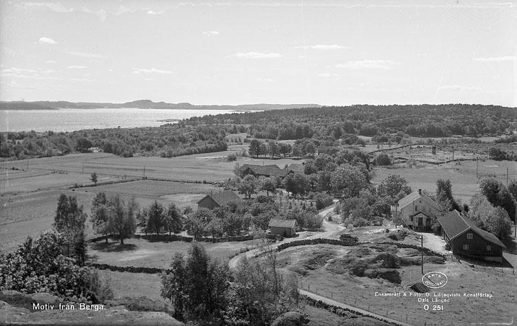 Jordbrukslandskap vid Berga by på Tjörn 1955