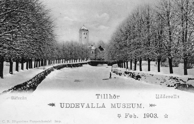 Bäfveån, Uddevalla. C. R. Högströms Papperhandel. Imp.