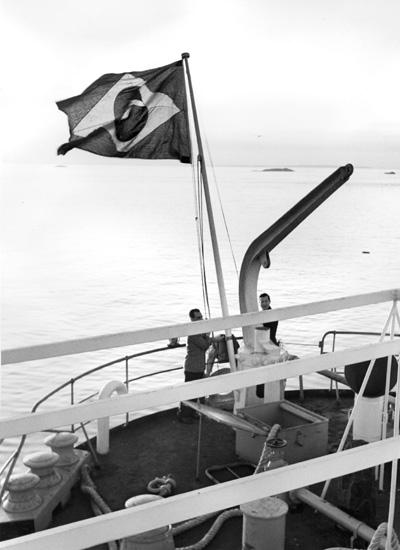 Flaggskifte på fartyg 121 M/T Amazonas.
