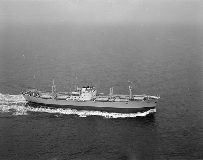 M/S Egerö DWT. 18.110 Rederi Skjelbreds Red. A/S, Kristiansand Norge Kölsträckning 61-10-24 Nr. 255 Leverans 62-06-21 Lastfartyg