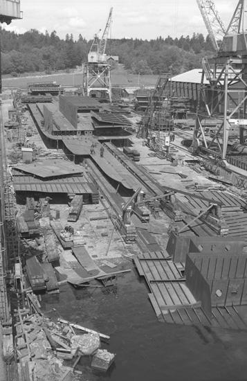 Fartyg 141 B/C Louise under konstruktion.