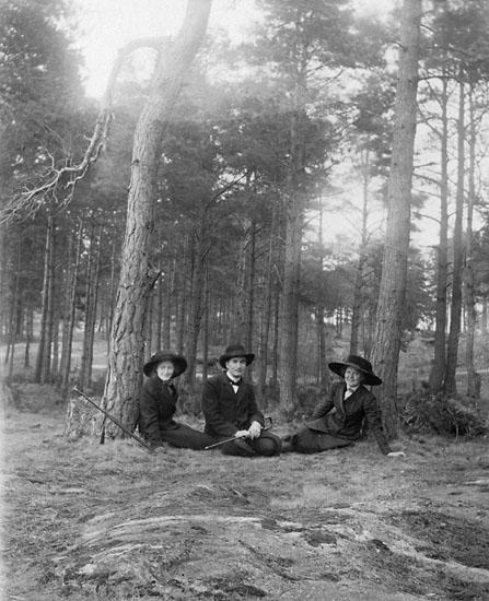 """Enligt noteringar: """" På väg till """"Sommarro"""" våren 1911""""."""