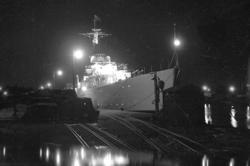 Den brittiska jagaren HMS ST. JAMES på flottbesök 1950