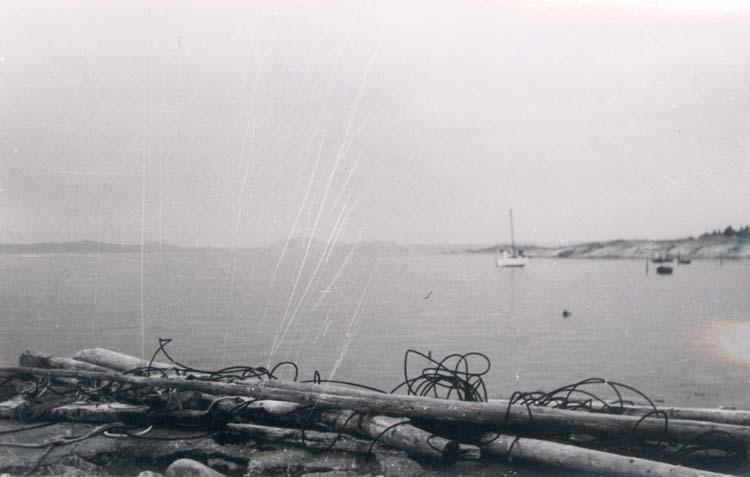 Berga strand på Tjörn 1958