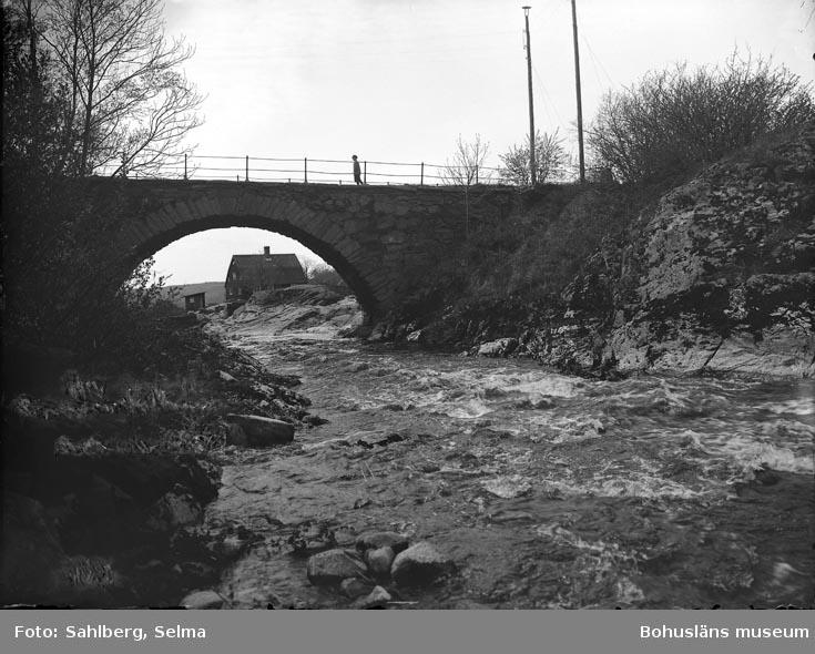 """Enligt fotografens noteringar: """"Bron vid Herrgården, från norr."""""""
