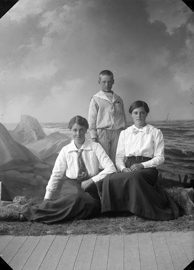 """Enligt fotografens journal nr 3 1916-1917: """"Pettersson, Signe Kyrkenorum Här""""."""