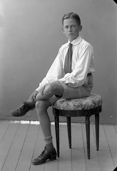 """Enligt fotografens journal nr 4 1918-1922: """"Ahlsell, Gösta Ön""""."""