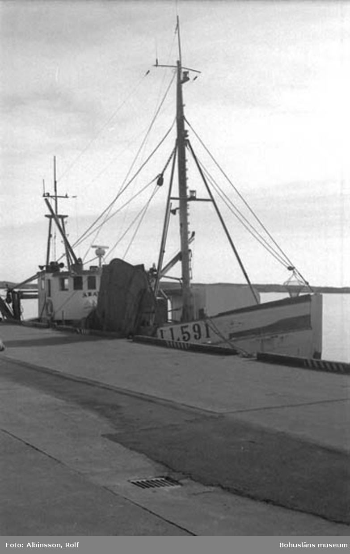 """Enligt fotografens noteringar: """"Äran i hamn, efter drygt 31 timmar till havs.""""  Fototid: 1996-03-07."""