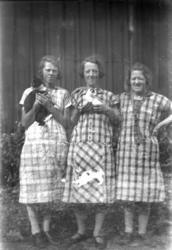 Ester, Ellen och Hulda Foss 1930.
