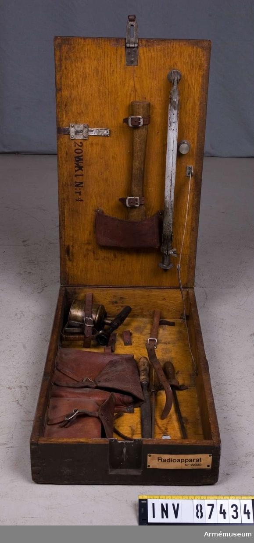 Grupp H II. Upprättad 20 W klövjeradiostation m/1929. Nummer 4.