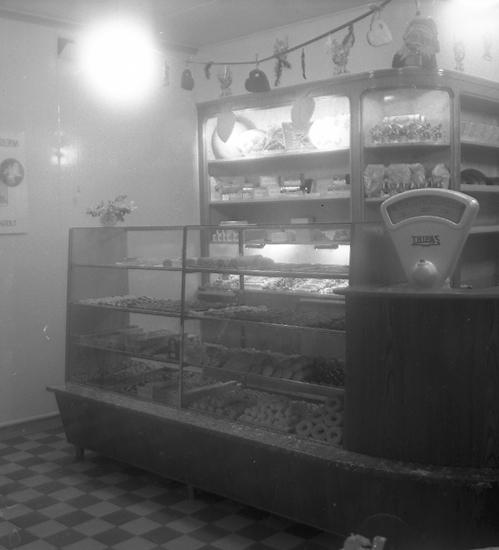 Slättens bageri, Lysekil. Julskyltning år 1946.