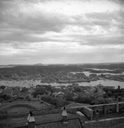 Utsikt från Carlstens fästning 1940-tal