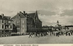 Notering på kortet: Göteborg. Västra Realläroverket, Majorna