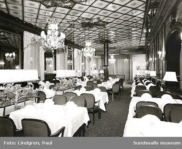 Hotell Knaust. Interiörer. Storgatan 13.
