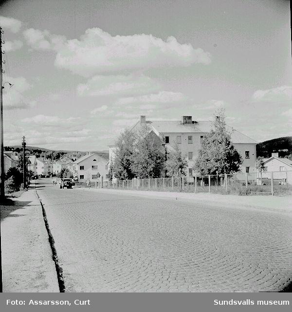 Fridhemsgatan, sedd från Östermalms skola.