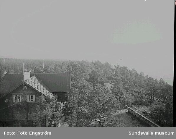 Utsikt från utsiktstornet på Norra berget .