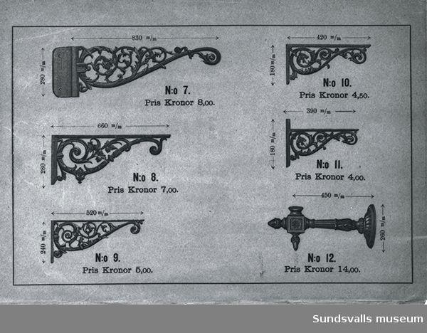 Annons för Bolinders produkter: konsoller.