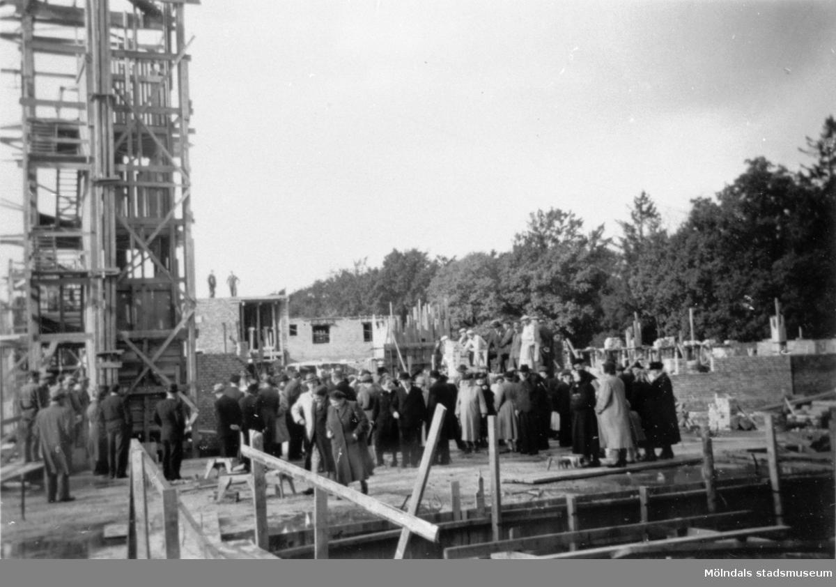Lackarebäckshemmet under byggnad 1949-1950.