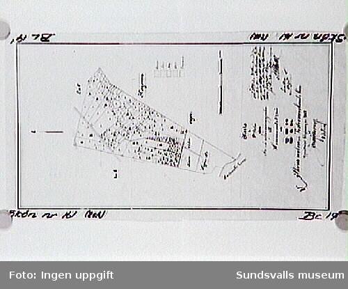 Hemmanet nr 2 Karta över avsöndradetomter 1889. Två delar, varav denna är nummer 2.