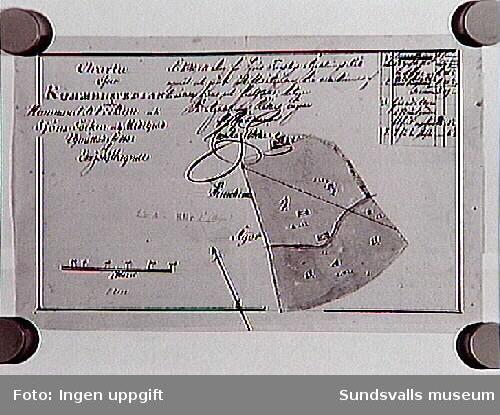 Byn, Hemmanet nr 1, Kummelsvedjan,Sköns sn.Upprättad 1833.