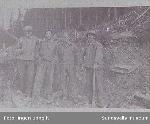 Majbygdens intresseförening, Njurunda.AK-arbete 1930 ca, plats okänd, ägare Sivert Nordin, Gstav A, Nordin.