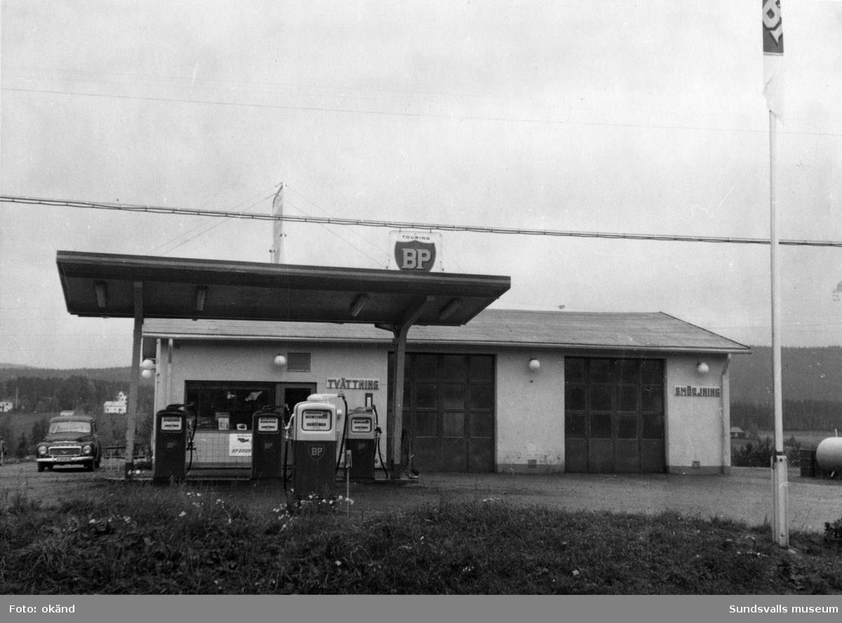BP-stationen Torpshammar, Ånge. Köpman: Einar Mattsson.