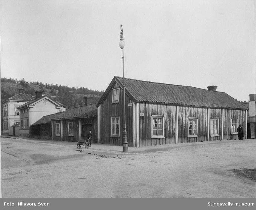 Parti av Skepparegatan, Norrmalm, från sydväst.