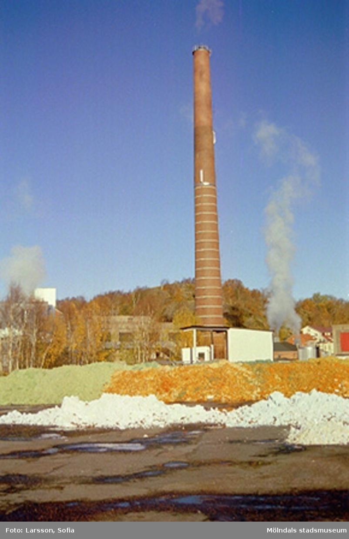"""""""Vedgården"""" och skorstenen som stod intill byggnad 13."""