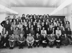 19847a72 Sittande första raden fr v: H Henriksson, L G Kloo, L E Algu